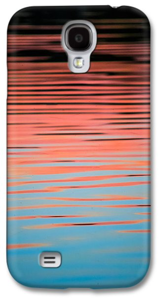 Sunset Abstract Galaxy S4 Cases - Pink Abstract Galaxy S4 Case by Shelby  Young