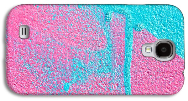 Pink And Blue Paint Galaxy S4 Case by Tom Gowanlock