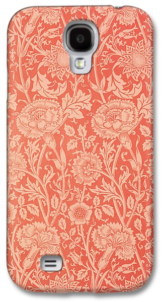 Floral Tapestries - Textiles Galaxy S4 Cases - Pink and Rose Wallpaper design Galaxy S4 Case by William Morris