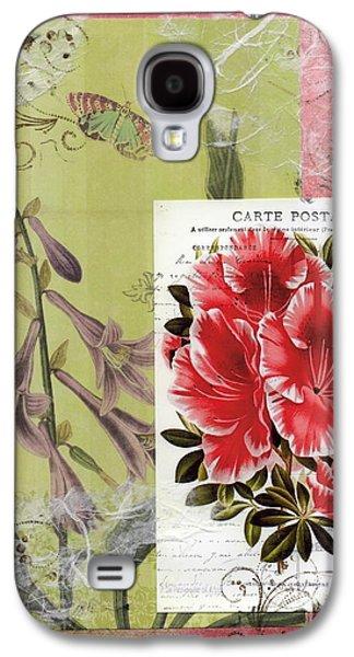 Nature Study Mixed Media Galaxy S4 Cases - Pink Azalea Galaxy S4 Case by Tamyra Crossley