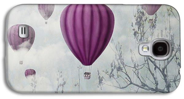Concept Mixed Media Galaxy S4 Cases - Pink Balloons Galaxy S4 Case by Jelena Jovanovic