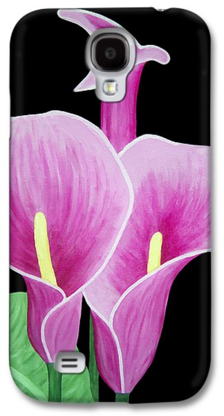 Calla Lilly Galaxy S4 Cases - Pink Calla Lilies 1 Galaxy S4 Case by Angelina Vick