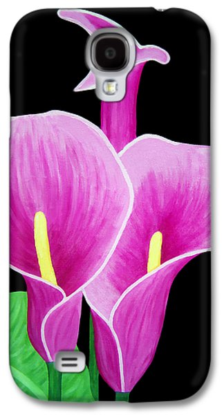 Calla Lilly Galaxy S4 Cases - Pink Calla Lillies 2 Galaxy S4 Case by Angelina Vick