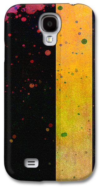 Abstract Digital Digital Galaxy S4 Cases - Pink  Color Splach abstract art  Galaxy S4 Case by Ann Powell