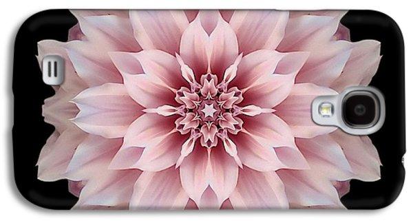 David J Bookbinder Galaxy S4 Cases - Pink Dahlia Flower Mandala Galaxy S4 Case by David J Bookbinder