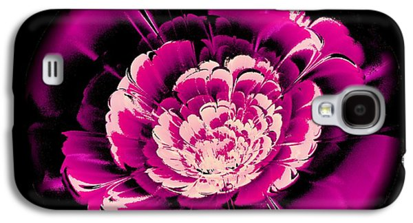 Round Galaxy S4 Cases - Pink Flower Galaxy S4 Case by Anastasiya Malakhova