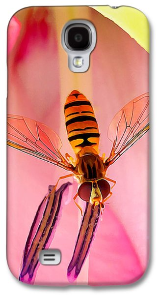 Digitally Manipulated Galaxy S4 Cases - Pink Flower Fly Galaxy S4 Case by Bill Caldwell -        ABeautifulSky Photography