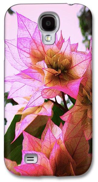 Metal Prints Pyrography Galaxy S4 Cases - Pink flower Galaxy S4 Case by Girish J