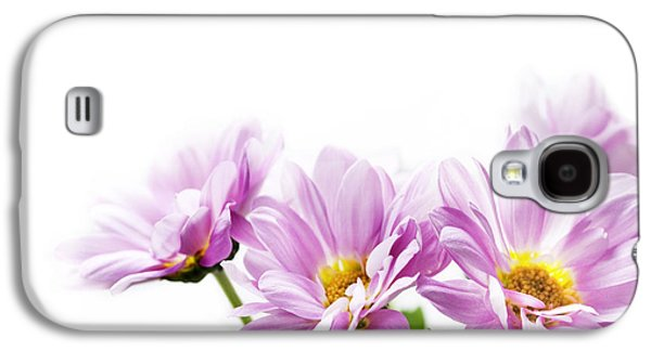 Green Pyrography Galaxy S4 Cases - Pink flowers Galaxy S4 Case by Jelena Jovanovic