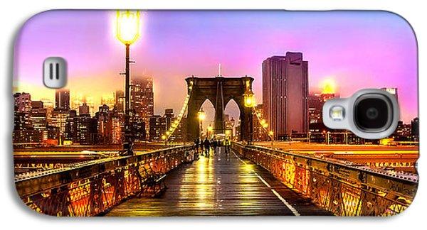 Light Galaxy S4 Cases - Pink Fog Of New York City Galaxy S4 Case by Az Jackson