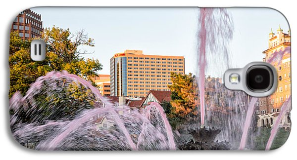 Greeting Cards For Cancer Galaxy S4 Cases - Pink Fountain for Breast Cancer Galaxy S4 Case by Terri Morris