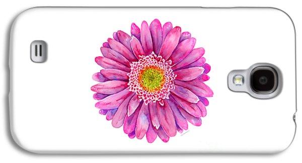 Pink Gerbera Daisy Galaxy S4 Case by Amy Kirkpatrick
