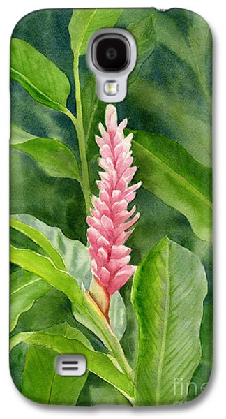 Pink Blossoms Galaxy S4 Cases - Pink Ginger with Leafy Background Galaxy S4 Case by Sharon Freeman