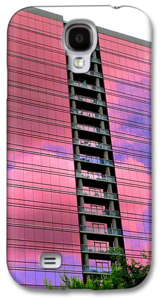 Uptown Charlotte Galaxy S4 Cases - Pink Glass Buildings Can Be Pretty Galaxy S4 Case by Randall Weidner