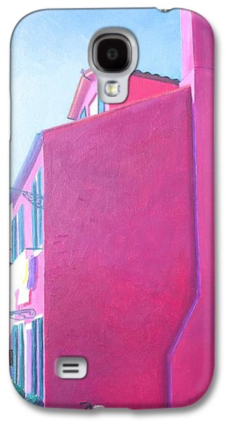 Laundry Paintings Galaxy S4 Cases - Pink House in Burano Italy Galaxy S4 Case by Jan Matson