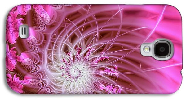 Digital Galaxy S4 Cases - Pink Galaxy S4 Case by Lena Auxier
