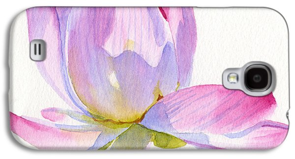Botanical Galaxy S4 Cases - Pink Lotus Square Design Galaxy S4 Case by Sharon Freeman