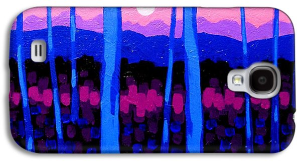 Landscape Acrylic Prints Paintings Galaxy S4 Cases - Pink Moon Galaxy S4 Case by John  Nolan