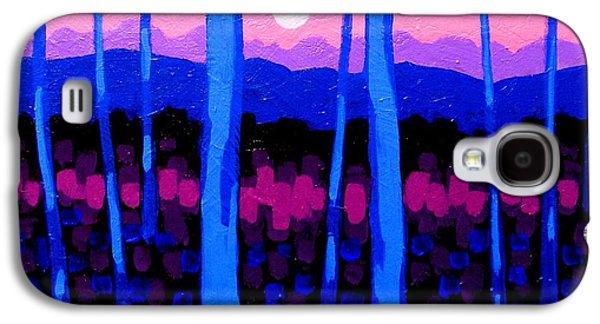 Landscape Acrylic Prints Galaxy S4 Cases - Pink Moon Galaxy S4 Case by John  Nolan
