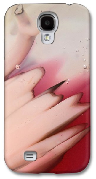Abstract Glass Art Galaxy S4 Cases - Pink on Pink Galaxy S4 Case by Kimberly Lyon
