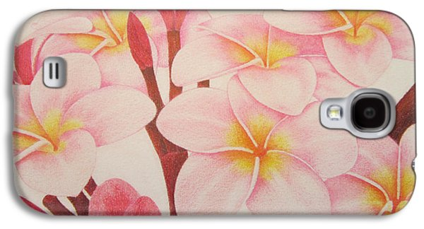 Botanical Galaxy S4 Cases - Pink Plumeria Galaxy S4 Case by Sharon Patterson
