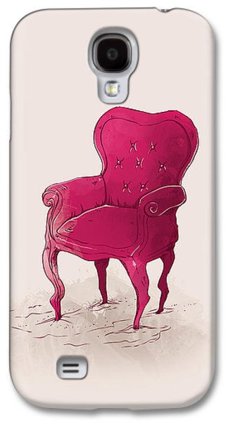 Chair Galaxy S4 Cases - Pink Galaxy S4 Case by Randoms Print