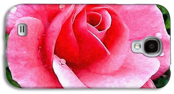 Floral Sculptures Galaxy S4 Cases - Pink Rose For Anne H a Galaxy S4 Case by Gert J Rheeders