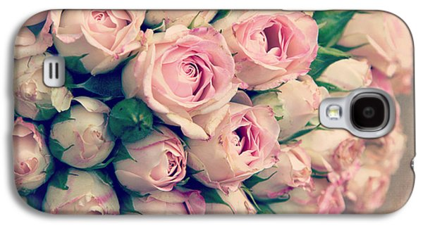 Crosses Photographs Galaxy S4 Cases - Pink rosebuds old photo Galaxy S4 Case by Jane Rix