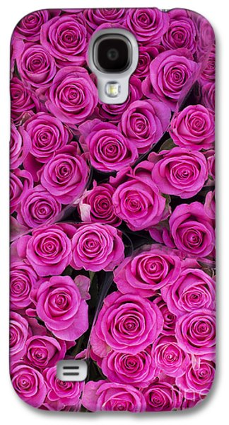 Cut Flowers Galaxy S4 Cases - Pink Roses Galaxy S4 Case by Tim Gainey