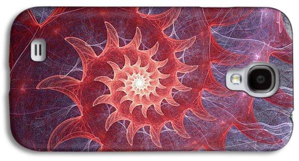 Digital Galaxy S4 Cases - Pink Shell Galaxy S4 Case by Anastasiya Malakhova