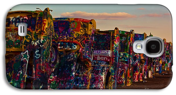 Ants Galaxy S4 Cases - Pink Sky at Cadillac Ranch Galaxy S4 Case by Robert Frederick