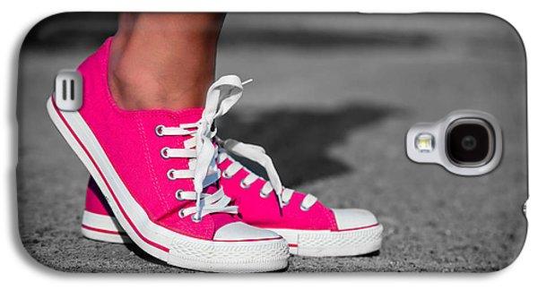 Sneaker Galaxy S4 Cases - Pink sneakers  Galaxy S4 Case by Michal Bednarek