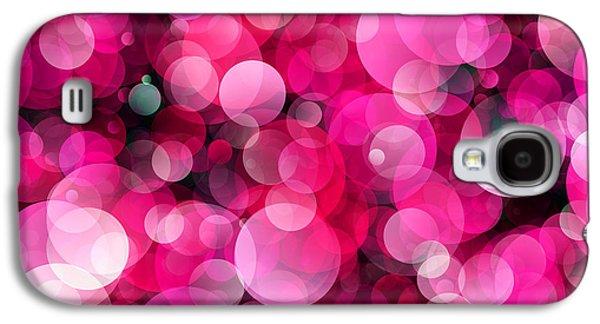 Plankton Digital Galaxy S4 Cases - Pink Soap Bubbles Galaxy S4 Case by Daniel Hagerman