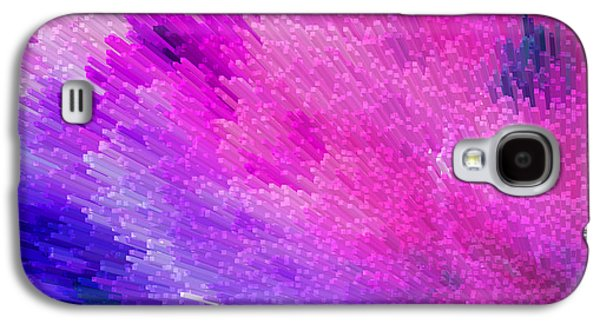 Textural Galaxy S4 Cases - Pink Star Dust Abstract Art By Sharon Cummings Galaxy S4 Case by Sharon Cummings