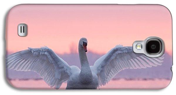 Bird Galaxy S4 Cases - Pink Swan Galaxy S4 Case by Roeselien Raimond