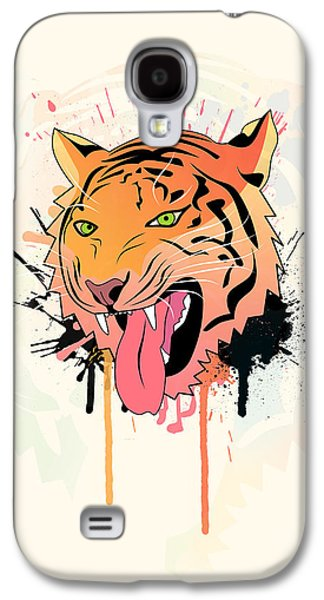 Animation Galaxy S4 Cases - Pink Tiger  Galaxy S4 Case by Mark Ashkenazi