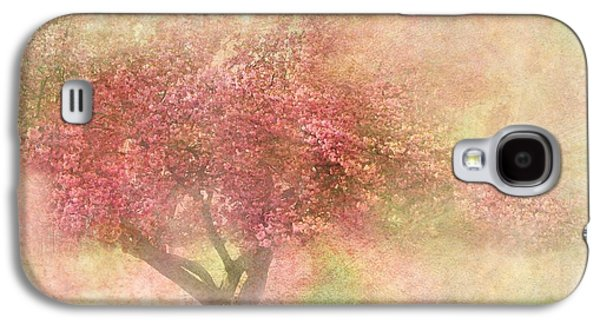 Flora Mixed Media Galaxy S4 Cases - Pink Tree Galaxy S4 Case by Heike Hultsch