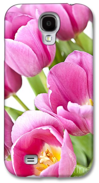 Botanical Galaxy S4 Cases - Pink tulips Galaxy S4 Case by Elena Elisseeva