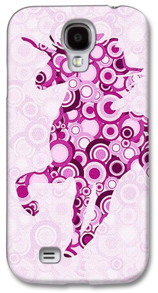 Girl Galaxy S4 Cases - Pink Unicorn - Animal Art Galaxy S4 Case by Anastasiya Malakhova