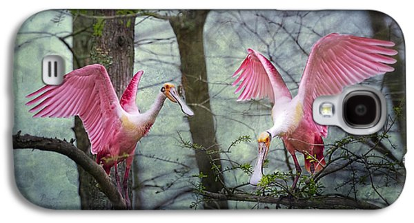 Pink Wings In The Swamp Galaxy S4 Case by Bonnie Barry