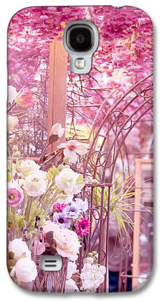 Flower Design Photographs Galaxy S4 Cases - Pink World. Amstedam Flower Market Galaxy S4 Case by Jenny Rainbow