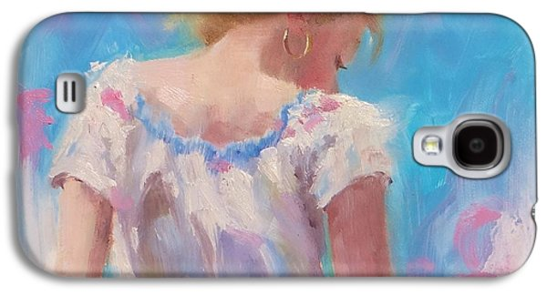 Gold Earrings Galaxy S4 Cases - Pino Study Galaxy S4 Case by Laura Lee Zanghetti