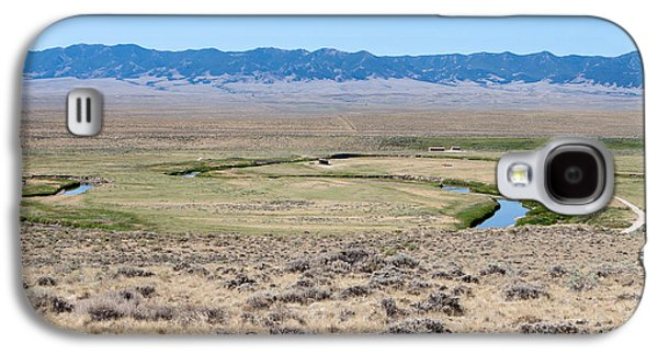 Pioneer Scene Galaxy S4 Cases - Pioneer Trail and Sweetwater River in Wyoming Galaxy S4 Case by Cindy Singleton