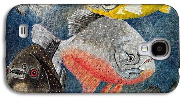 Piranha Galaxy S4 Cases - Pirahna  Fish Galaxy S4 Case by Debbie LaFrance