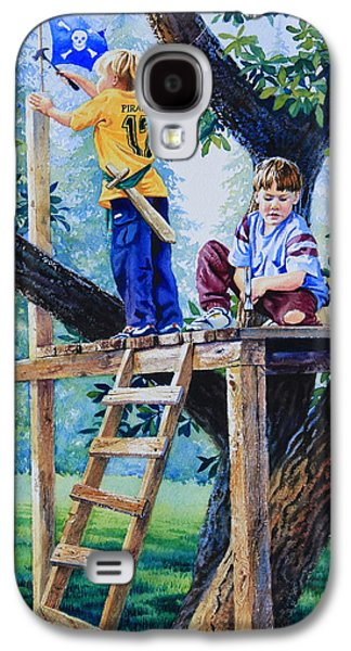 Hammer Paintings Galaxy S4 Cases - Pirate Fort Galaxy S4 Case by Hanne Lore Koehler