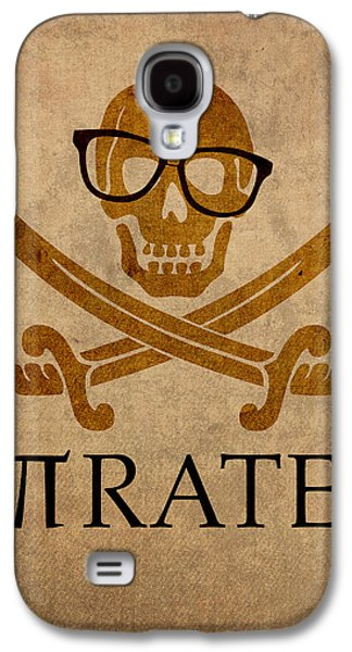 Pirates Galaxy S4 Cases - Pirate Math Nerd Humor Poster Art Galaxy S4 Case by Design Turnpike
