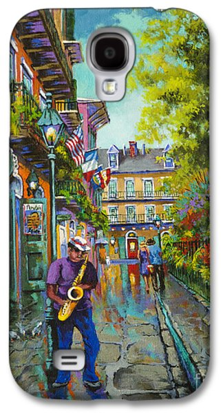 Streetscenes Paintings Galaxy S4 Cases - Pirate Sax Galaxy S4 Case by Dianne Parks