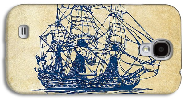 Pirate Ships Galaxy S4 Cases - Pirate Ship Artwork - Vintage Galaxy S4 Case by Nikki Marie Smith
