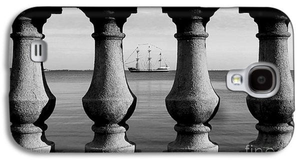 Pirate Ships Galaxy S4 Cases - Pirate ship on the Bayshore Galaxy S4 Case by David Lee Thompson