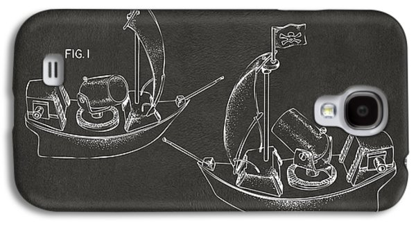 Pirate Ships Galaxy S4 Cases - Pirate Ship Patent Artwork - Gray Galaxy S4 Case by Nikki Marie Smith